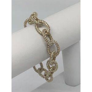 J. Crew Gold Rhinestone Pave Bracelet